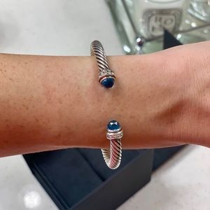 David Yurman Bracelet Blue Topaz and Diamonds, 5mm